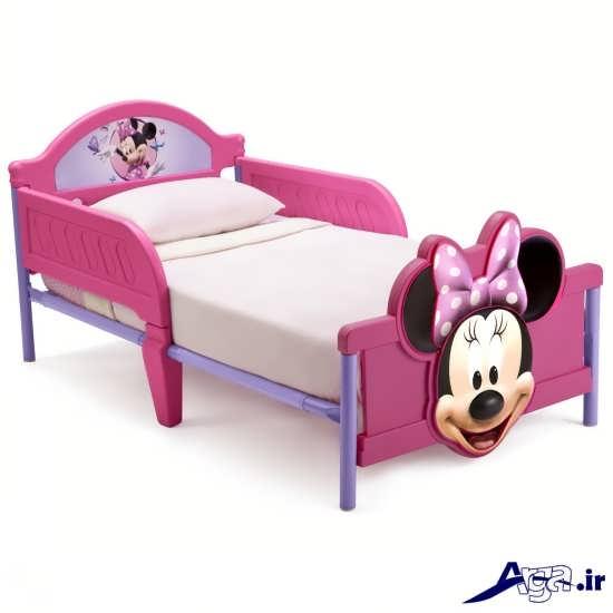 مدل تخت خواب دخترانه با طرح های عروسکی