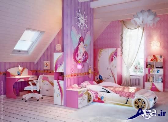 دکوراسیون اتاق خواب کودک دختر