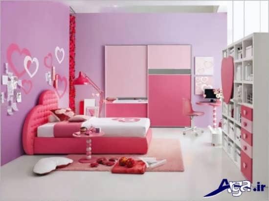 دکوراسیون زیبا اتاق دخترانه