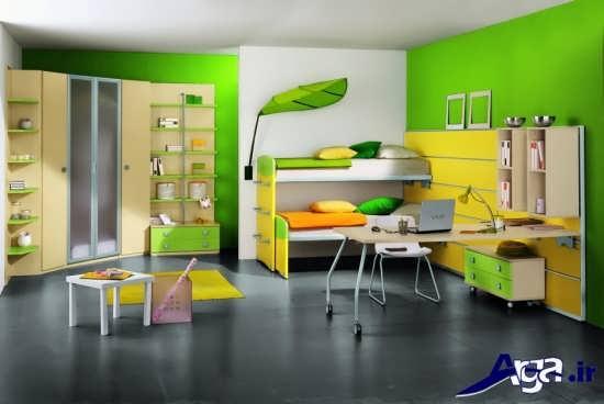 دکوراسیون سبز برای اتاق دخترانه