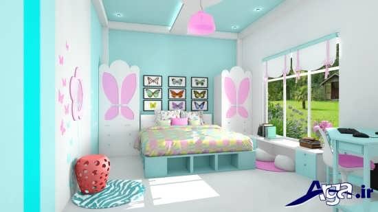 مدل اتاق خواب دخترانه با طراحی بی نظیر