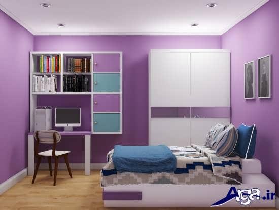 مدل اتاق خواب دخترانه با طراحی بی نظیر و کاربردی