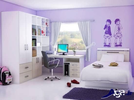 مدل اتاق خواب دخترانه با طراحی دکوراسیون بی نظیر