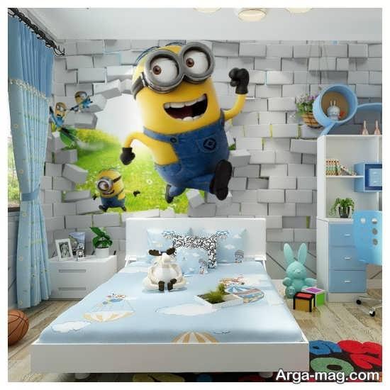 کاغذ دیواری فانتزی اتاق استراحت
