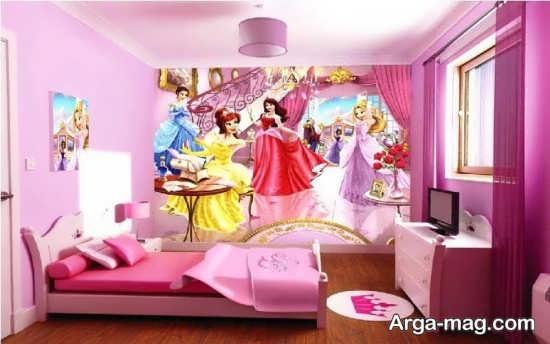 کاغذ دیواری اتاق خواب دخترانه