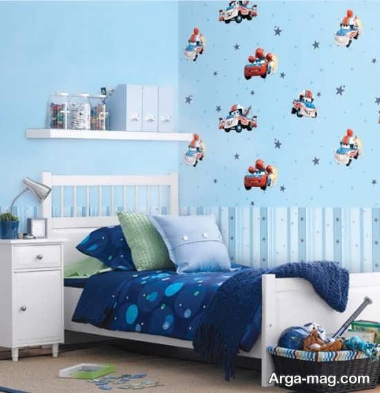 کاغذ دیواری اتاق خواب پسرانه