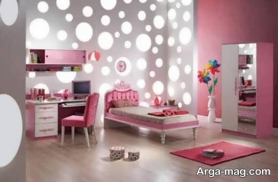 کاغذ دیواری اتاق خوابی دخترانه