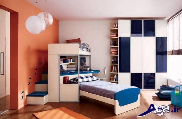 تخت و کمد با طراحی کاربردی