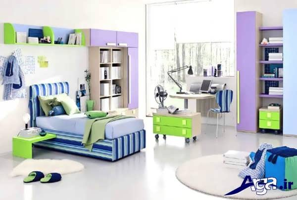 تخت و کمد زیبا و جذاب