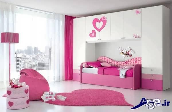 تخت و کمد با طراحی زیبا برای نوجوان