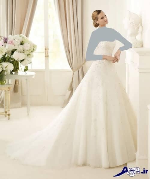 لباس عروس دکلته ترک