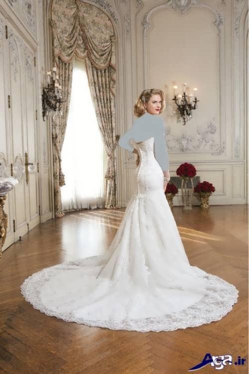 لباس عروس دنباله دار ترک