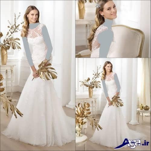 انواع مدل های لباس عروس با طرح ترک