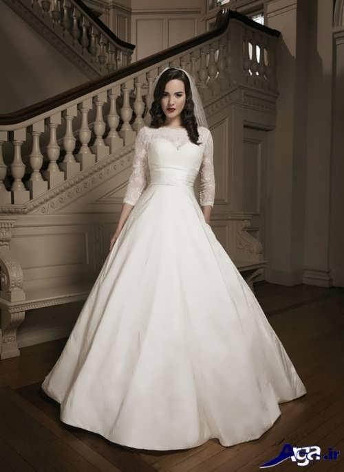 مدل لباس عروس آستین دار ترک