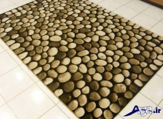 فرش فانتزی با طرح سنگ فرش