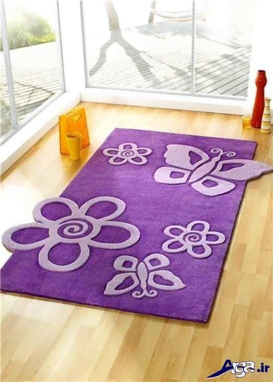 فرش های فانتزی با طرح گل و پروانه
