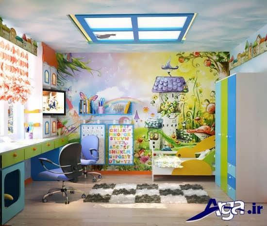 تزیین سقف اتاق کودک با عروسک