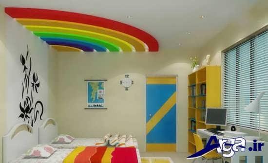تزیین رنگین کمانی سقف اتاق کودک