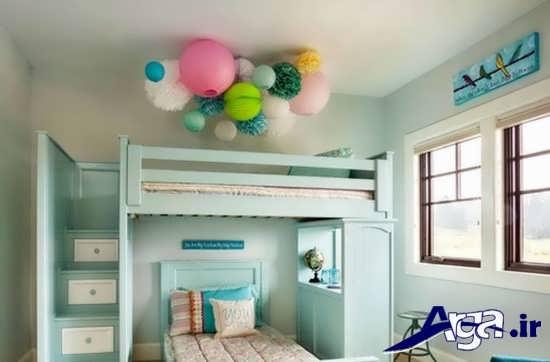 تزیین سقف اتاق نوزاد با بادکنک
