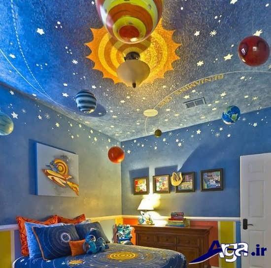تزیین زیبای سقف اتاق کودک