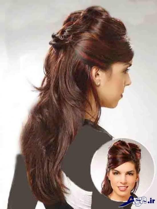 شینیون حرفه ای باز برای موهای بلند
