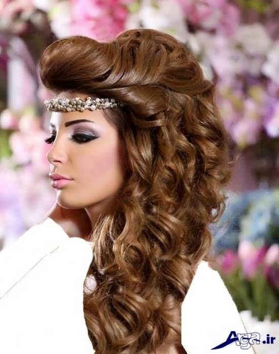 مدل های آرایش موی باز برای عروس
