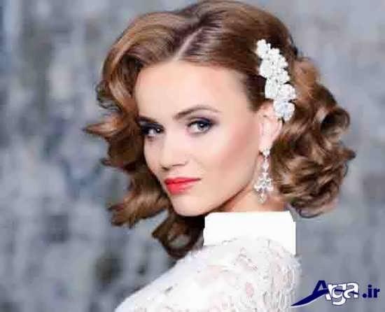 جدیدترین نمونه های آرایش مو برای عروس