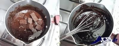 اضافه کردن شکلات تخته ای به مواد روکش شکلاتی