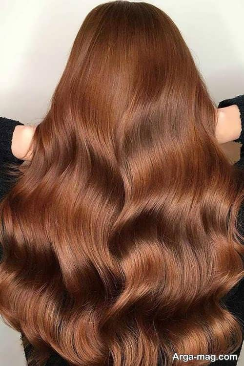 رنگ موی دارچینی فوق العاده زیبا