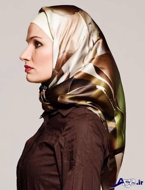 آموزش بستن روسری به سبک لبنانی