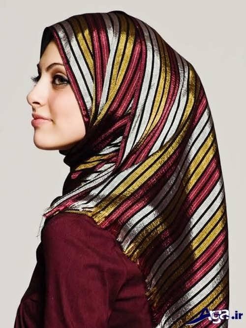 مدل بستن روسری لبنانی
