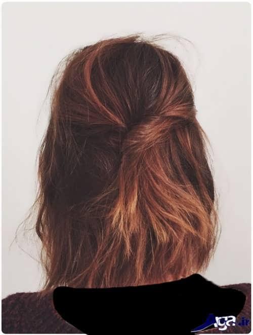 انواع نمونه های بستن موی کوتاه