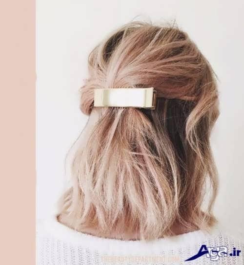 مدل زیبا برای بستن موی کوتاه