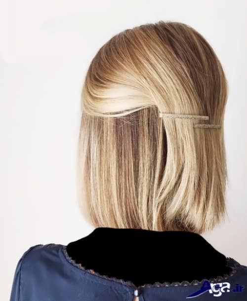 مدل بستن موی کوتاه زیبا