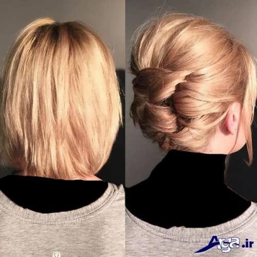 مدل بستن موی کوتاه با روش های زیبا