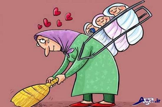 کاریکاتور درباره مادر