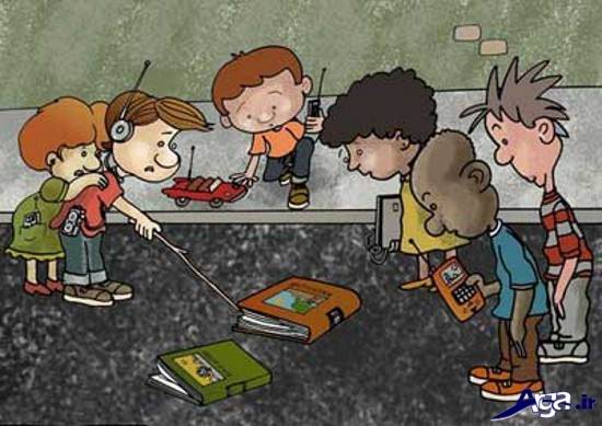کاریکاتور درباره ی مطالعه