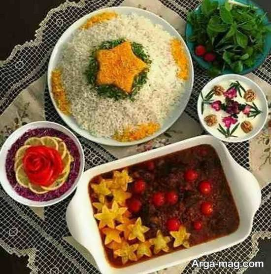 دیزاین جدید سفره غذای ایرانی