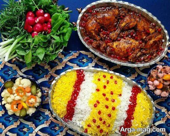 دیزاین شیک سفره غذای ایرانی