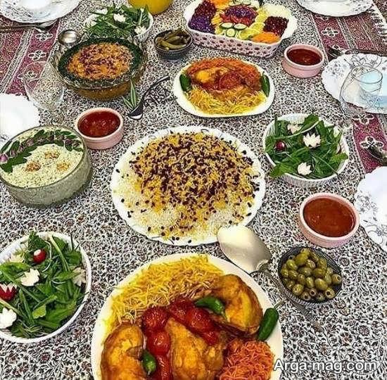 دیزاین سنتی سفره غذای ایرانی