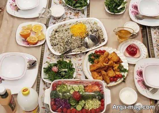 دیزاین جذاب سفره غذای ایرانی
