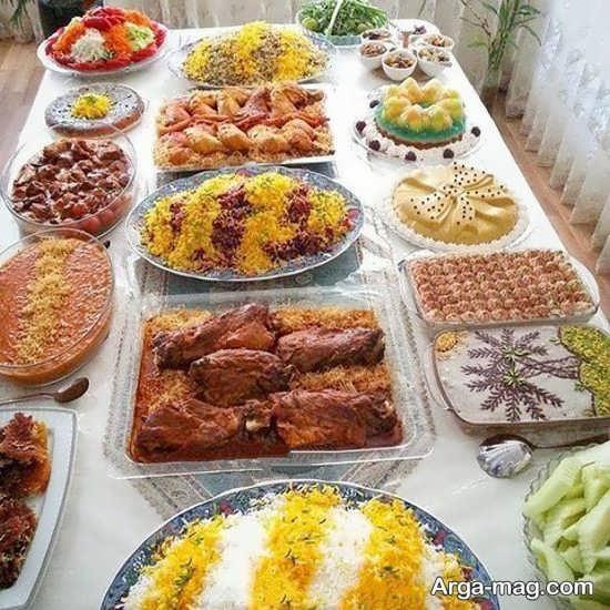 دیزاین فوق العاده سفره غذای ایرانی