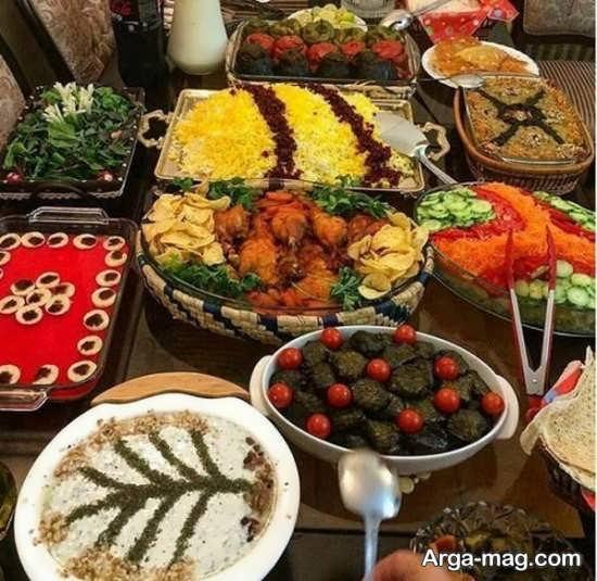 تزیینات به روز سفره غذا