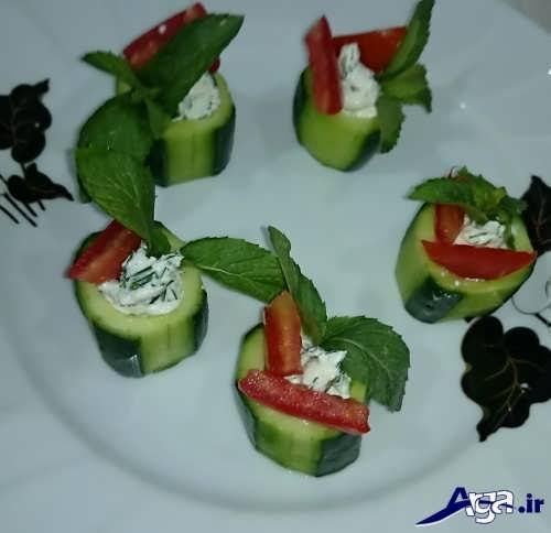 تزیین جالب خیار و گوجه