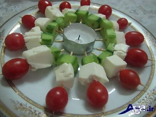 تزیین خلاقانه خیار و گوجه