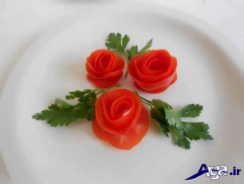 تزیین خیار و گوجه با روش های مختلف
