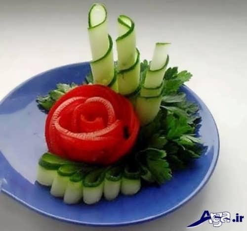 تزیین خیار و گوجه زیبا