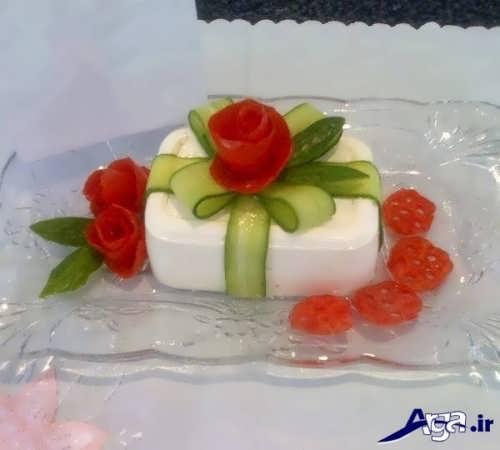 تزیین خیار و گوجه با روش های خلاقانه