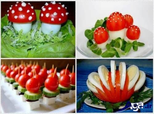 تزیین زیبا و جالب گوجه و خیار