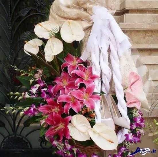 تزیین کادوس عروس با گل